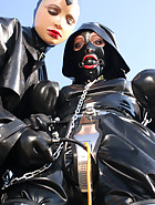 Spring walk in rubber