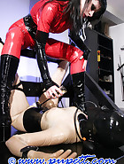 Latex stock bondage game, pic 6