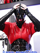 Latex stock bondage game, pic 7