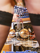 Locked herself in chastity, pic 13