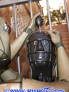 Inflatable latex helmet, pic 13