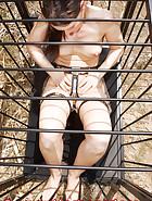 Masturbation in a chastity belt, pic 1