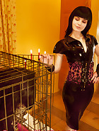 Cuffed in a cage, pic 1