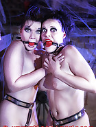 The Lady Susanna Deathstar catches Bloodangels Pupett and Jill trying to outsmart their chastity belts. See in this pictures, how they get a fair punishment., pic 11