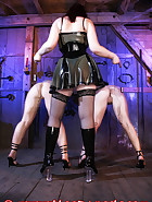 The Lady Susanna Deathstar catches Bloodangels Pupett and Jill trying to outsmart their chastity belts. See in this pictures, how they get a fair punishment., pic 5