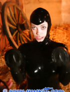 Stabled rubber pony girl, pt.2, pic 3